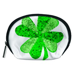 St Patricks Day Shamrock Green Accessory Pouches (medium)