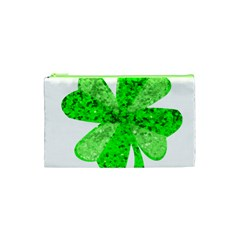 St Patricks Day Shamrock Green Cosmetic Bag (xs)