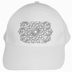 Scrapbook Side Lace Tag Element White Cap by Nexatart