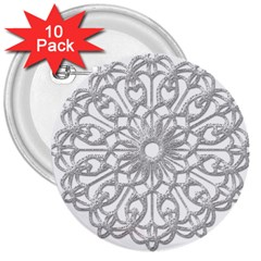 Scrapbook Side Lace Tag Element 3  Buttons (10 Pack)