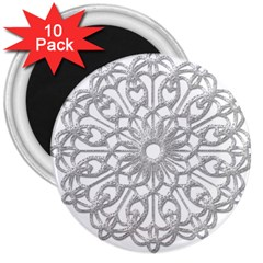 Scrapbook Side Lace Tag Element 3  Magnets (10 Pack)  by Nexatart