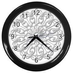 Scrapbook Side Lace Tag Element Wall Clocks (black)