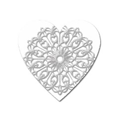 Scrapbook Side Lace Tag Element Heart Magnet by Nexatart