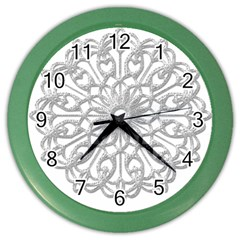 Scrapbook Side Lace Tag Element Color Wall Clocks by Nexatart