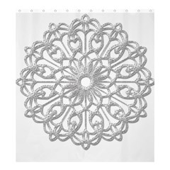 Scrapbook Side Lace Tag Element Shower Curtain 66  X 72  (large)  by Nexatart