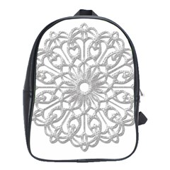 Scrapbook Side Lace Tag Element School Bags(large)  by Nexatart