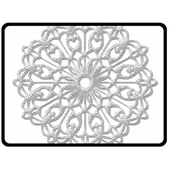 Scrapbook Side Lace Tag Element Fleece Blanket (large)  by Nexatart