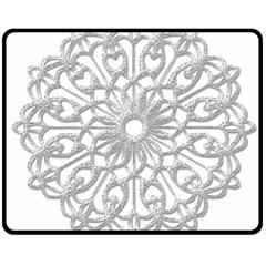 Scrapbook Side Lace Tag Element Fleece Blanket (medium)  by Nexatart