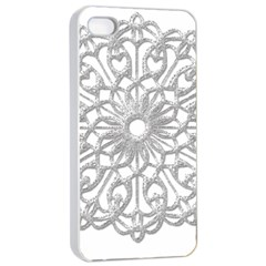 Scrapbook Side Lace Tag Element Apple Iphone 4/4s Seamless Case (white)