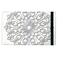 Scrapbook Side Lace Tag Element Apple Ipad 2 Flip Case by Nexatart