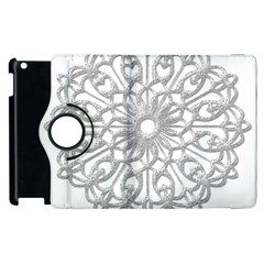 Scrapbook Side Lace Tag Element Apple Ipad 2 Flip 360 Case by Nexatart