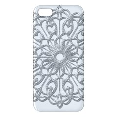 Scrapbook Side Lace Tag Element Apple Iphone 5 Premium Hardshell Case by Nexatart