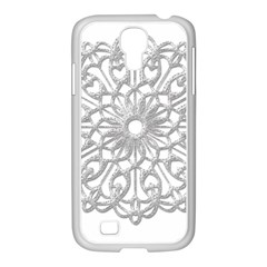 Scrapbook Side Lace Tag Element Samsung Galaxy S4 I9500/ I9505 Case (white) by Nexatart