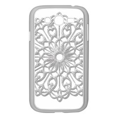 Scrapbook Side Lace Tag Element Samsung Galaxy Grand Duos I9082 Case (white)