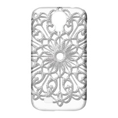 Scrapbook Side Lace Tag Element Samsung Galaxy S4 Classic Hardshell Case (pc+silicone)