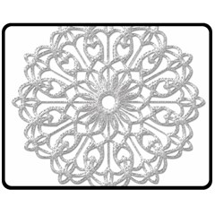 Scrapbook Side Lace Tag Element Double Sided Fleece Blanket (medium)
