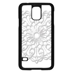 Scrapbook Side Lace Tag Element Samsung Galaxy S5 Case (black)