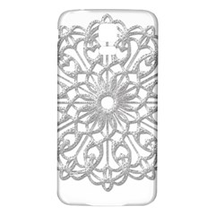 Scrapbook Side Lace Tag Element Samsung Galaxy S5 Back Case (white) by Nexatart
