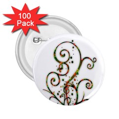 Scroll Magic Fantasy Design 2 25  Buttons (100 Pack)