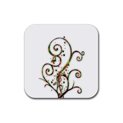 Scroll Magic Fantasy Design Rubber Square Coaster (4 Pack)  by Nexatart