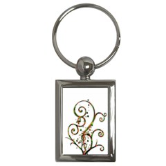 Scroll Magic Fantasy Design Key Chains (rectangle)