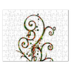Scroll Magic Fantasy Design Rectangular Jigsaw Puzzl by Nexatart