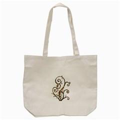 Scroll Magic Fantasy Design Tote Bag (cream) by Nexatart