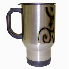 Scroll Magic Fantasy Design Travel Mug (silver Gray) by Nexatart