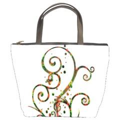 Scroll Magic Fantasy Design Bucket Bags by Nexatart