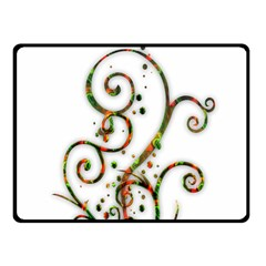 Scroll Magic Fantasy Design Fleece Blanket (small)