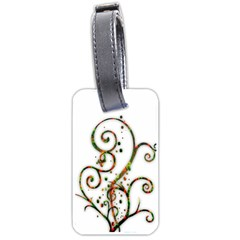 Scroll Magic Fantasy Design Luggage Tags (two Sides) by Nexatart