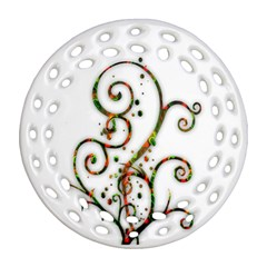 Scroll Magic Fantasy Design Round Filigree Ornament (two Sides) by Nexatart
