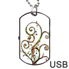 Scroll Magic Fantasy Design Dog Tag Usb Flash (one Side) by Nexatart
