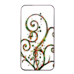 Scroll Magic Fantasy Design Apple Iphone 4/4s Seamless Case (black) by Nexatart