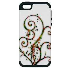 Scroll Magic Fantasy Design Apple Iphone 5 Hardshell Case (pc+silicone)
