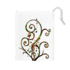 Scroll Magic Fantasy Design Drawstring Pouches (large)  by Nexatart