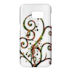 Scroll Magic Fantasy Design Samsung Galaxy S7 Hardshell Case  by Nexatart