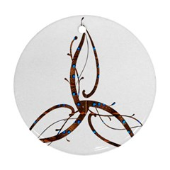 Abstract Shape Stylized Designed Ornament (round) by Nexatart