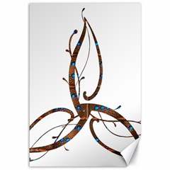 Abstract Shape Stylized Designed Canvas 12  X 18