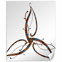 Abstract Shape Stylized Designed Canvas 16  X 20