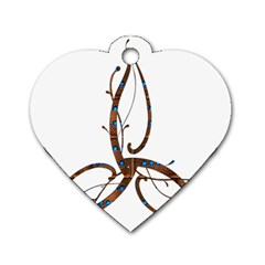 Abstract Shape Stylized Designed Dog Tag Heart (two Sides)