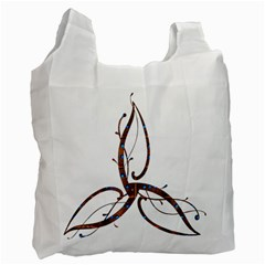 Abstract Shape Stylized Designed Recycle Bag (one Side)