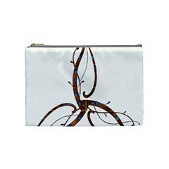 Abstract Shape Stylized Designed Cosmetic Bag (medium)  by Nexatart