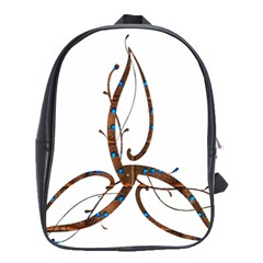 Abstract Shape Stylized Designed School Bags(large)