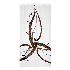 Abstract Shape Stylized Designed Shower Curtain 36  X 72  (stall)  by Nexatart