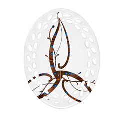 Abstract Shape Stylized Designed Ornament (oval Filigree)