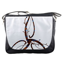 Abstract Shape Stylized Designed Messenger Bags