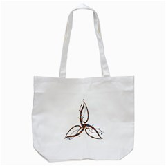 Abstract Shape Stylized Designed Tote Bag (white)