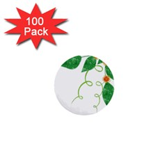 Scrapbook Green Nature Grunge 1  Mini Buttons (100 Pack)
