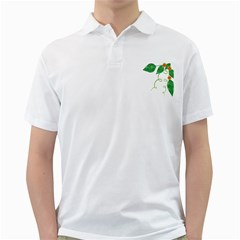 Scrapbook Green Nature Grunge Golf Shirts